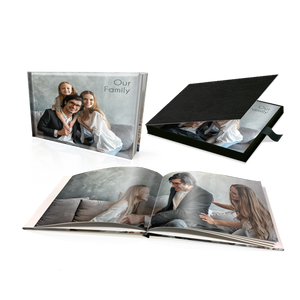 "8 x 11"" Premium Personalised Hard Cover Photo Book in Presentation Box"