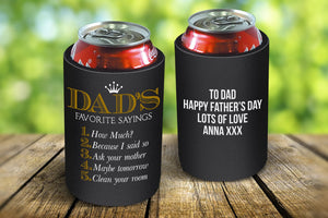 Dad's Sayings Stubby Cooler