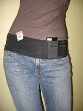 Load image into Gallery viewer, Insulin Pump Band, Dexcom Band, Omnipod Pouch, tallygear tummietote-2 Band-Black w/White Dots