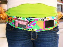Load image into Gallery viewer, Insulin Pump Belt, Dexcom Belt, Smartphone Pouch, tallygear tummietote Belt-SPLASHY TIE DYE
