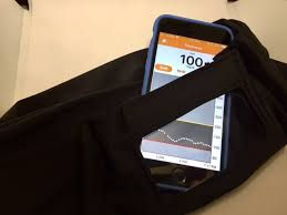 Smartphone Belt, Insulin Pump Belt, Dexcom Tummietote Belt w/ smartphone size window-Black Superstar