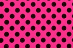 Arm/Leg Pocket for Dexcom/Omnipod/Insulin Pump/Smartphone w/optional window-Hot Pink with Black Polka Dots