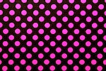 Arm, Leg Skins for Dexcom, Omnipod, Insulin Pump Site-Black w/Hot Pink Dots