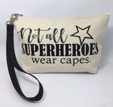 Load image into Gallery viewer, Diabetes Supply Bag, Case, Pack, Pouch, Makeup bag, Tote, 'Not all superheroes wear capes'