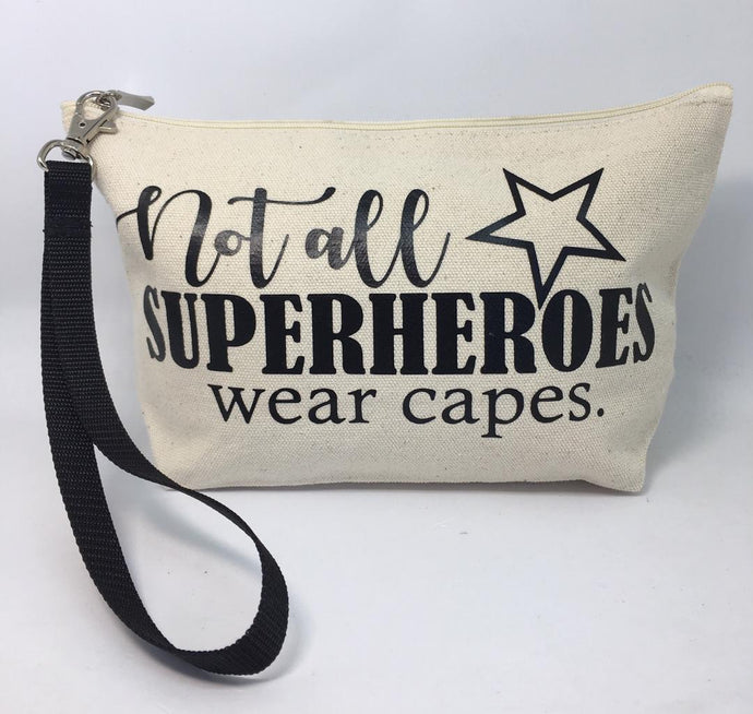 Diabetes Supply Bag, Case, Pack, Pouch, Makeup bag, Tote, 'Not all superheroes wear capes'