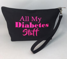 Load image into Gallery viewer, Diabetes Supply Bag, Case, Pack, Pouch, Makeup bag, Tote, 'All my diabetes stuff'