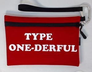 Diabetes Supply Bag, Case, Pack, Pouch, TYPE ONE-DERFUL