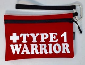Diabetes Supply Bag, Case, Pack, Pouch, TYPE 1 WARRIOR