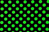 Arm, Leg Skins for Dexcom, Omnipod, Insulin Pump Site-Black w/Green Polka Dots