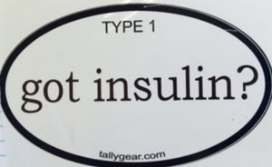 Type 1 Diabetes Decals, Stickers