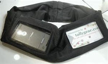 Load image into Gallery viewer, Insulin Pump Band, Dexcom Band, Omnipod Pouch, tallygear tummietote-2 Band-Black with White Flowers