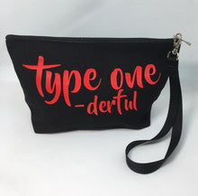 Load image into Gallery viewer, Diabetes Supply Bag, Case, Pack, Pouch, Makeup bag, Tote, type one-derful