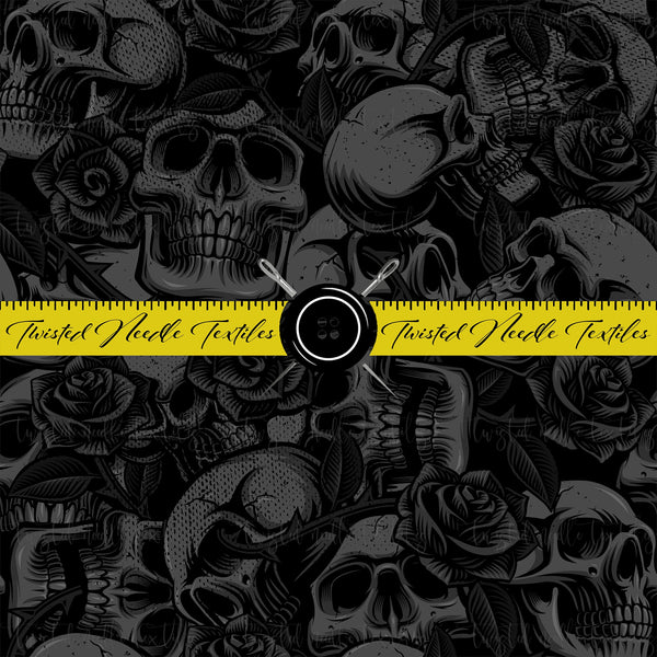 TATTOO BLACK OUT SKULLS AND ROSES - PERPETUAL PREORDER