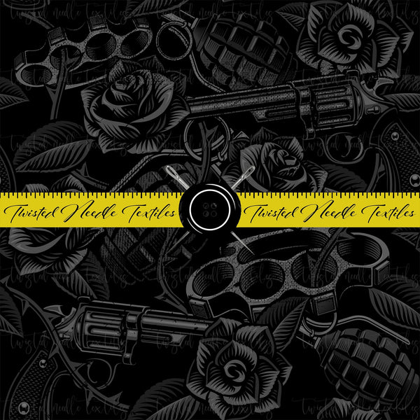 TATTOO BLACK OUT GUNS AND ROSES - PERPETUAL PREORDER