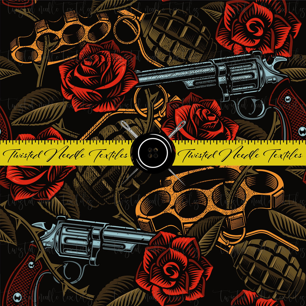 TATTOO GUNS AND ROSES - TNT CUSTOM PRINTING