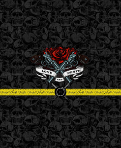 TATTOO GUNS AND ROSES PANEL - TNT CUSTOM PRINTING PREORDER