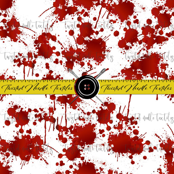 HORROR BLOOD SPLATTER ON WHITE - PERPETUAL PREORDER