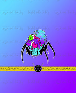 MONSTER CUPCAKE SPIDER CUPCAKE PANEL - TNT CUSTOM PRINTING