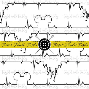 MM HEARTBEAT BLACK AND WHITE - TNT CUSTOM PRINTING