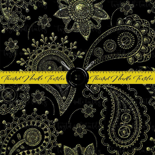 HOLIDAY BLACK AND GOLD PAISLEY - PERPETUAL PREORDER