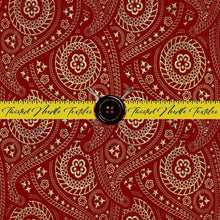 HOLIDAY RED AND GOLD PAISLEY - PERPETUAL PREORDER