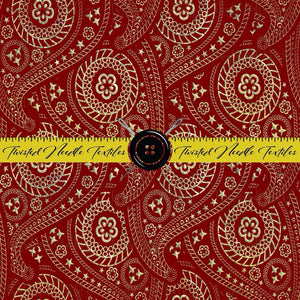 HOLIDAY RED AND GOLD PAISLEY - TNT CUSTOM PRINTING PREORDER
