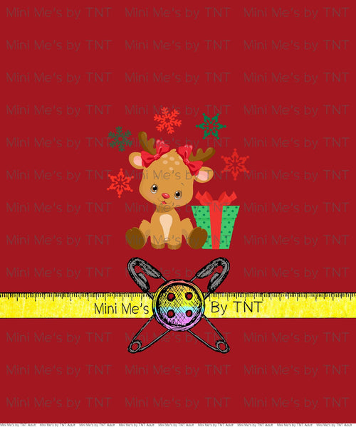 HOLIDAY BASH REINDEER BOWS PANEL - PERPETUAL PREORDER