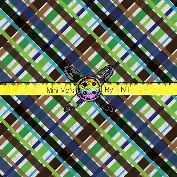 DINOS GREEN PLAID COORDINATE - PERPETUAL PREORDER