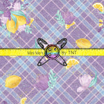 EASTER PURPLE PLAID WITH LEMONS - PERPETUAL PREORDER