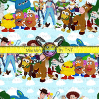 TOY STORY CHARACTER COLLAGE STRIPES - PERPETUAL PREORDER