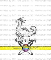 BELIEVE IN NESSIE DYEABLE PANEL - PERPETUAL PREORDER