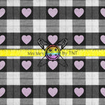 BUFFALO PLAID BLACK AND PINK HEARTS - PERPETUAL PREORDER