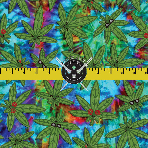 STONERS MJ LEAVES ON TIE DYE - PERPETUAL PREORDER
