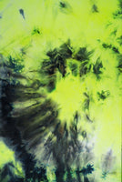 NEON YELLOW & BLACK TIE-DYE - BRUSHED POLY SPANDEX - OFF THE RACK