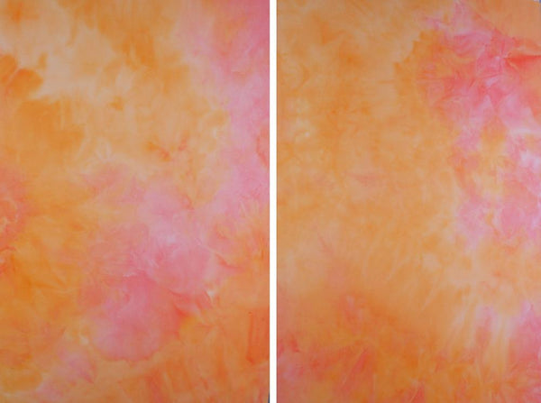 ORANGE TIE DYE - BRUSHED POLY SPANDEX - OFF THE RACK