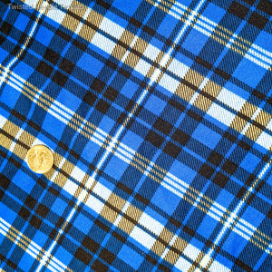 ROYAL BLUE PLAID DOUBLE BRUSHED POLY - TNT OFF THE RACK