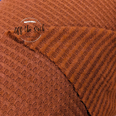 Rust Brushed Waffle Knit - TNT OFF THE RACK
