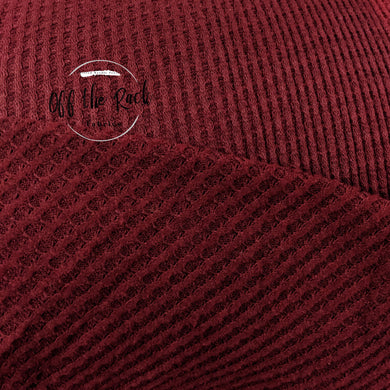 Burgundy Brushed Waffle Knit - TNT OFF THE RACK
