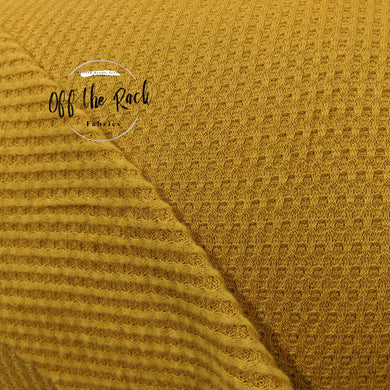 Mustard Brushed Waffle Knit - TNT OFF THE RACK