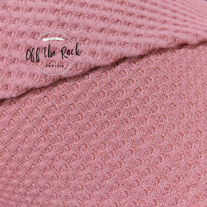 Rose Brushed Waffle Knit - TNT OFF THE RACK