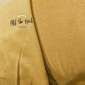 Mustard French Terry - TNT OFF THE RACK