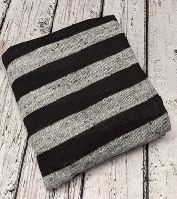 GREY AND BLACK STRIPED HACCI KNIT - TNT OFF THE RACK