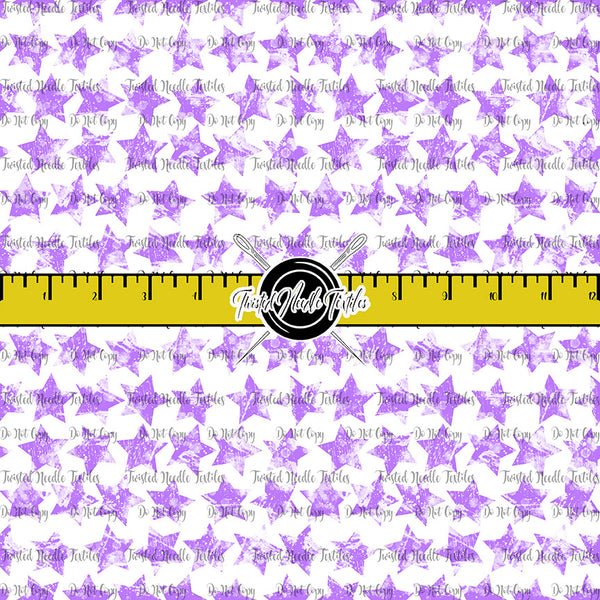 GRUNGE STARS MINI PURPLE ON WHITE - TNT BASICS PREORDER