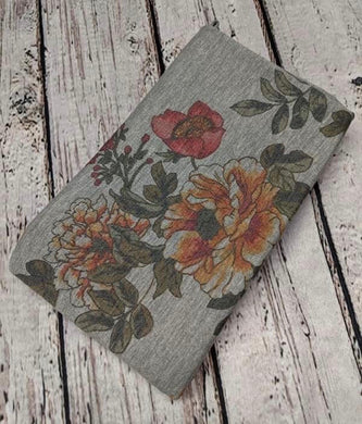 HEATHER GREY FLORAL FRECH TERRY - TNT OFF THE RACK