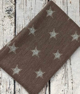 MOCHA WITH GREY STARS FRENCH TERRY - TNT OFF THE RACK