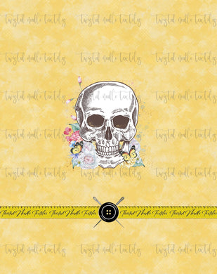 FLORAL ANATOMY SKULL PANEL RETAIL