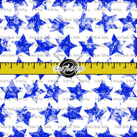 GRUNGE STARS BLUE ON WHITE - TNT BASICS PREORDER