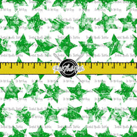 GRUNGE STARS GREEN ON WHITE - TNT BASICS PREORDER