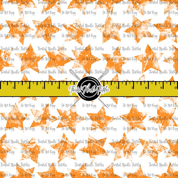 GRUNGE STARS ORANGE ON WHITE - TNT BASICS PREORDER