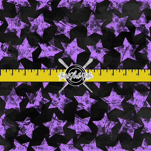 GRUNGE STARS PURPLE ON BLACK - TNT BASICS PREORDER
